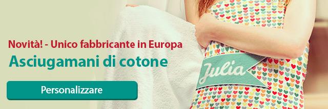 Asciugamani di cotone - Unico fabbricante in Europa