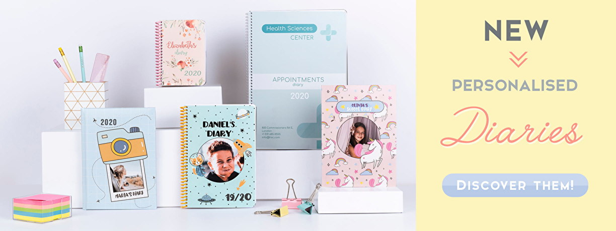 New Personalised Diaries 2019-2020