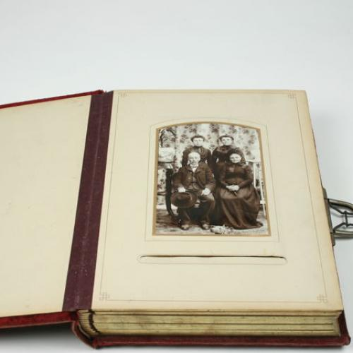Photo album with 48 photos and 14 pictures carte visit cabinet 1921