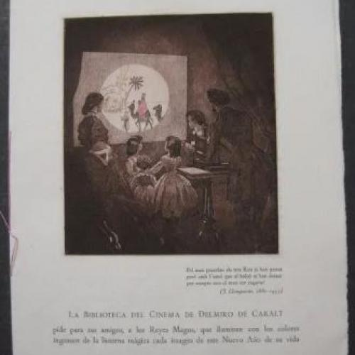 Cards numbered 1953 Library Cinema Delmiro Caralt - Magic Lantern theme - numbered cards
