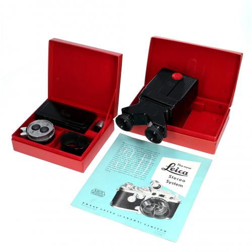 Leica viewfinder system for full stereo stereo viewer exhibitions