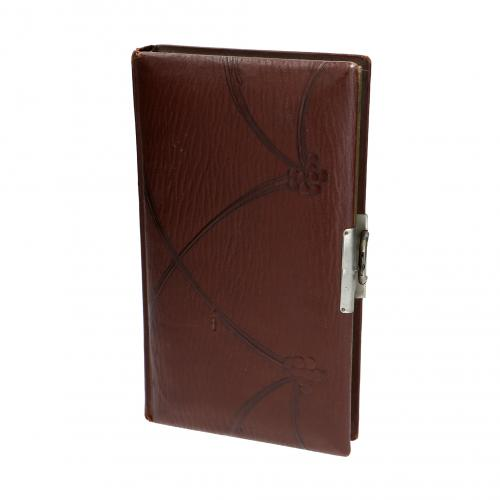 Leather album with photographs photographs