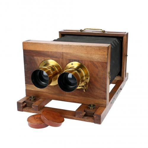 French Stereo Camera 12x21 with goals Petzval