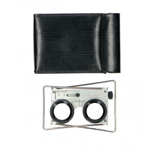Folding folding stereo viewer Leather Case