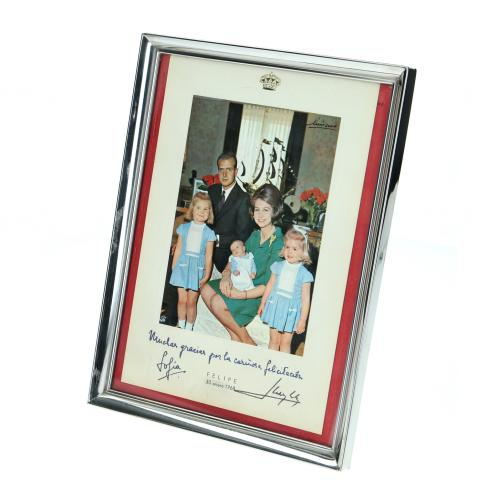 Real family photography - Birth of S.M. Philip VI - with Dedication and Signature - 30-January 68
