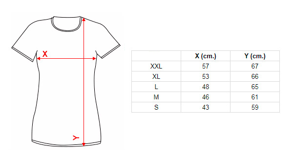 Women T-shirts size guide