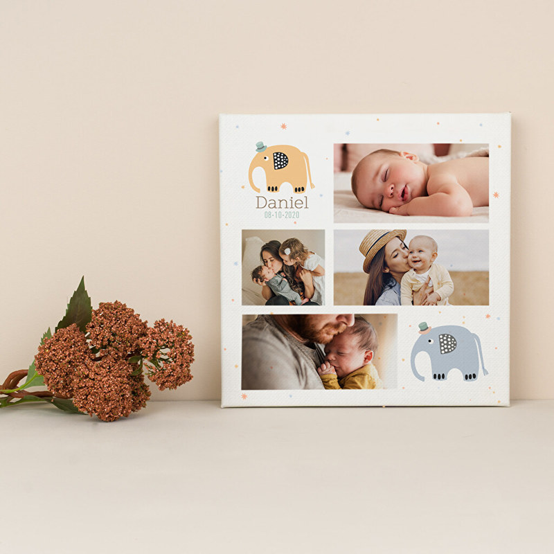 Personalised canvas photo