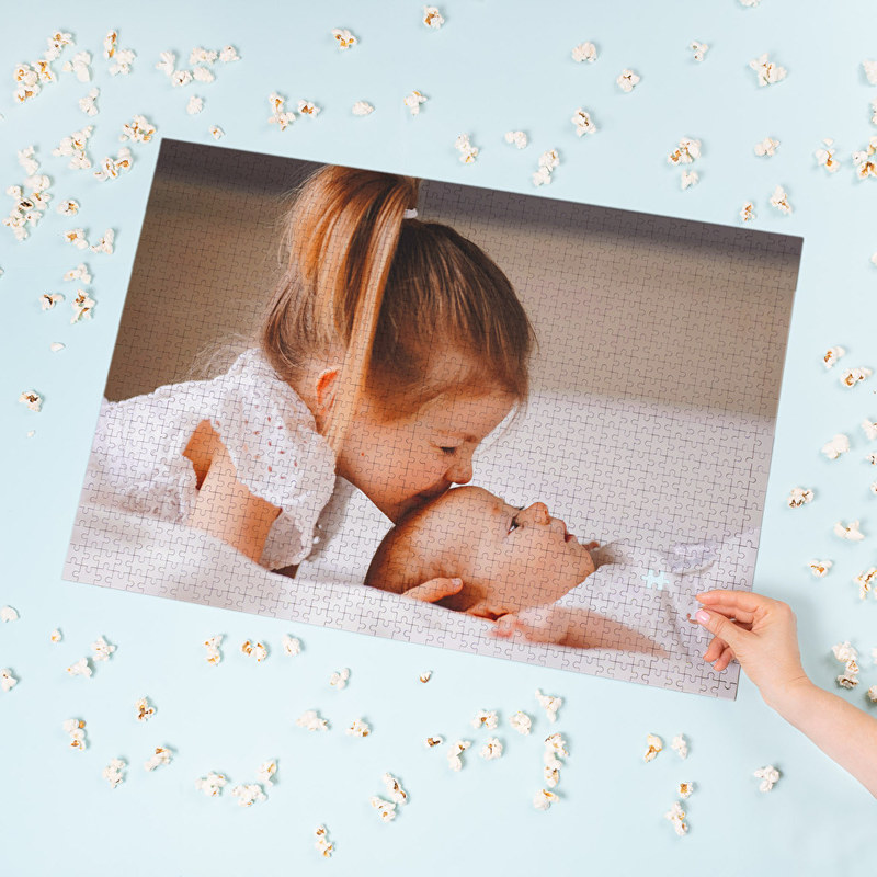 Personalised puzzle with children's photos