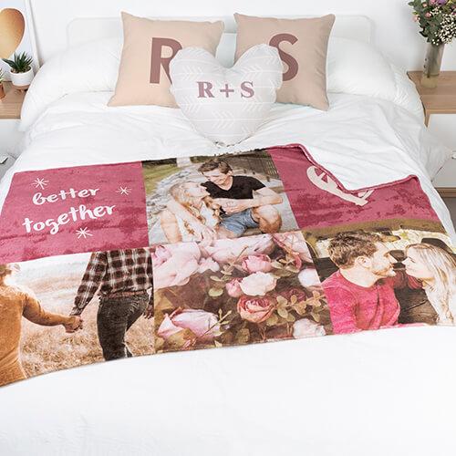 como decorar una cama con mantas